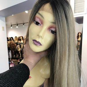 Accessories - Ash Blonde Ombré Lacefront Wig Long Color 2218